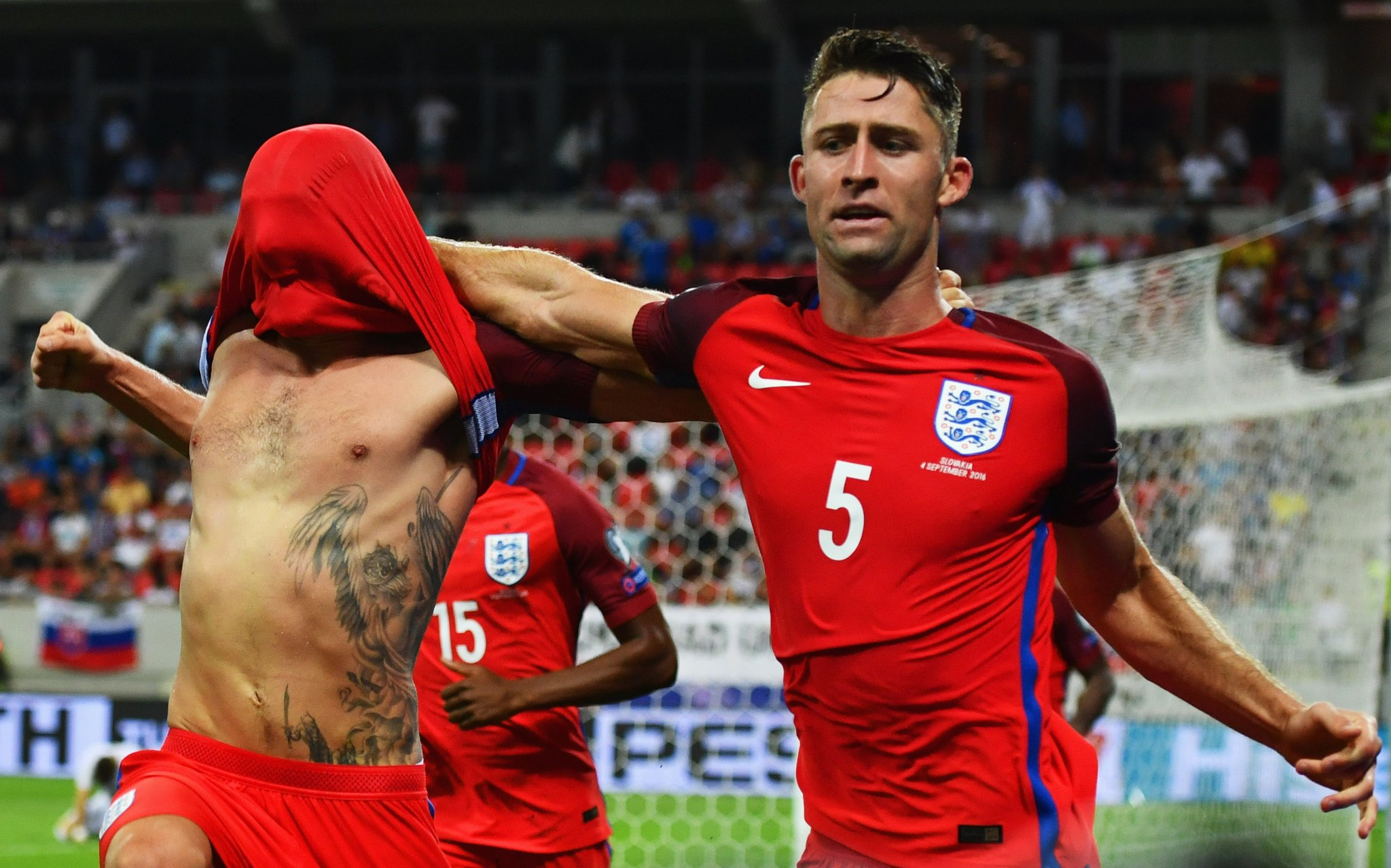 Late Goal Sees England Past 10-Man Slovakia, Poland Blow Lead