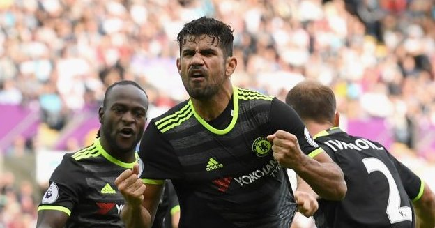 Costa Bags Brace, Moses Subbed On As Chelsea Hold Swansea
