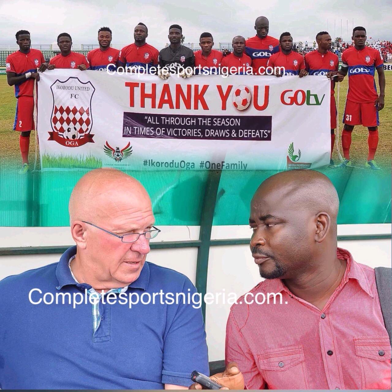 De Jong: Ikorodu United Will Be Back Soon In NPFL