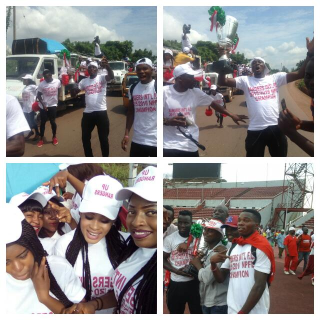 Rangers NPFL Trophy Parade Lights Up Enugu