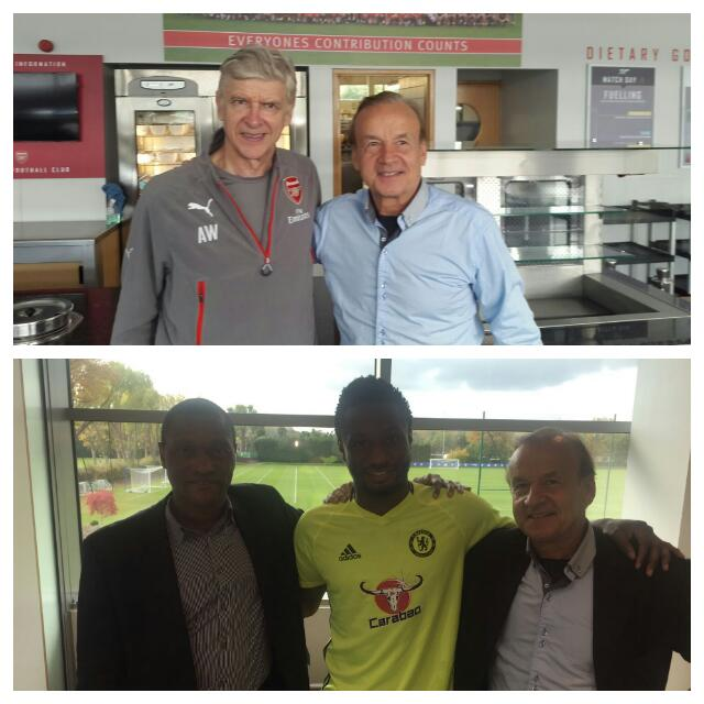 Rohr Meets With Wenger, Mikel, Emenalo Over Algeria Clash