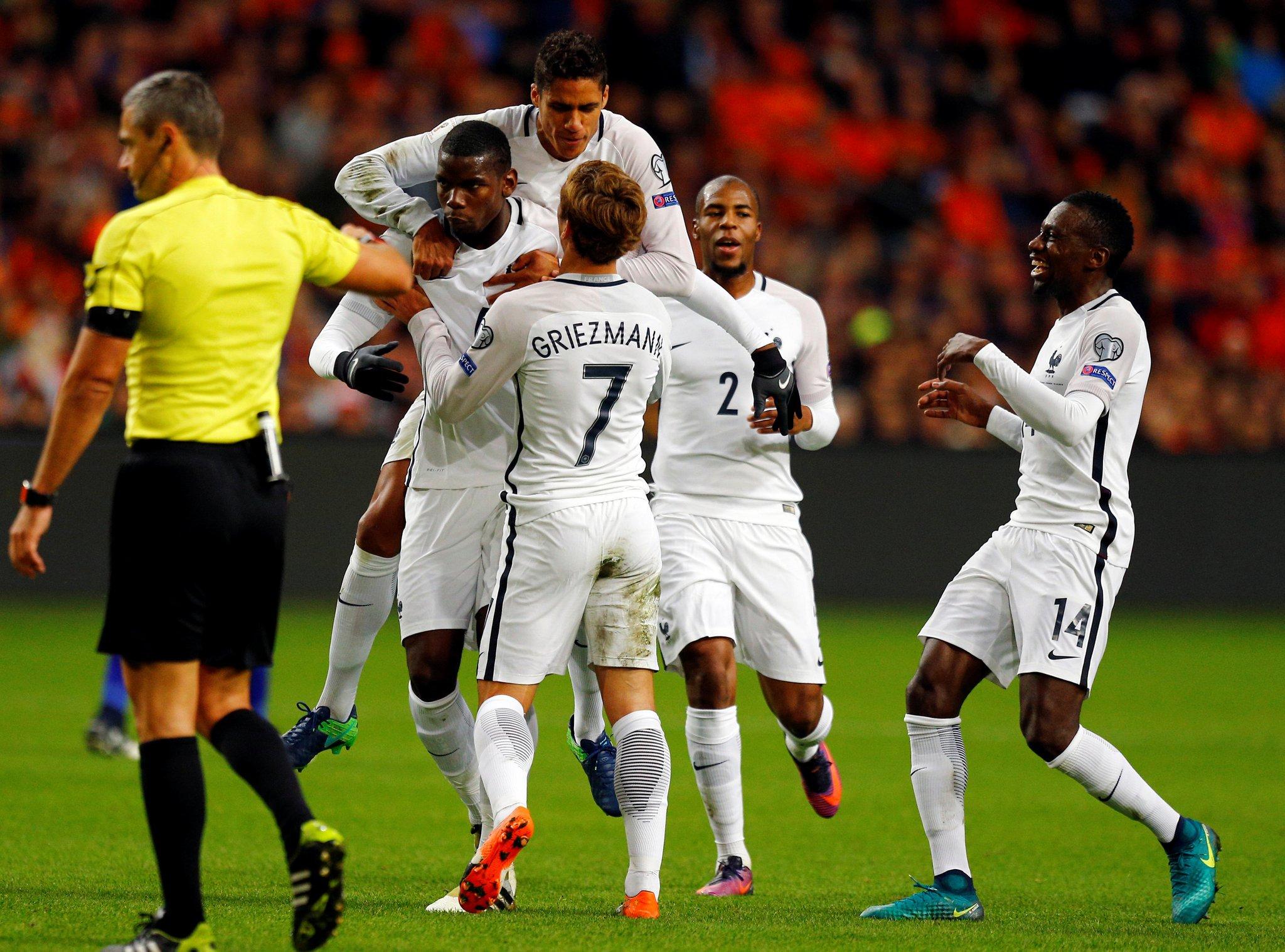 Pogba Scores In France Win Vs Holland; Benteke Hits Hat-trick, Ronaldo Scores