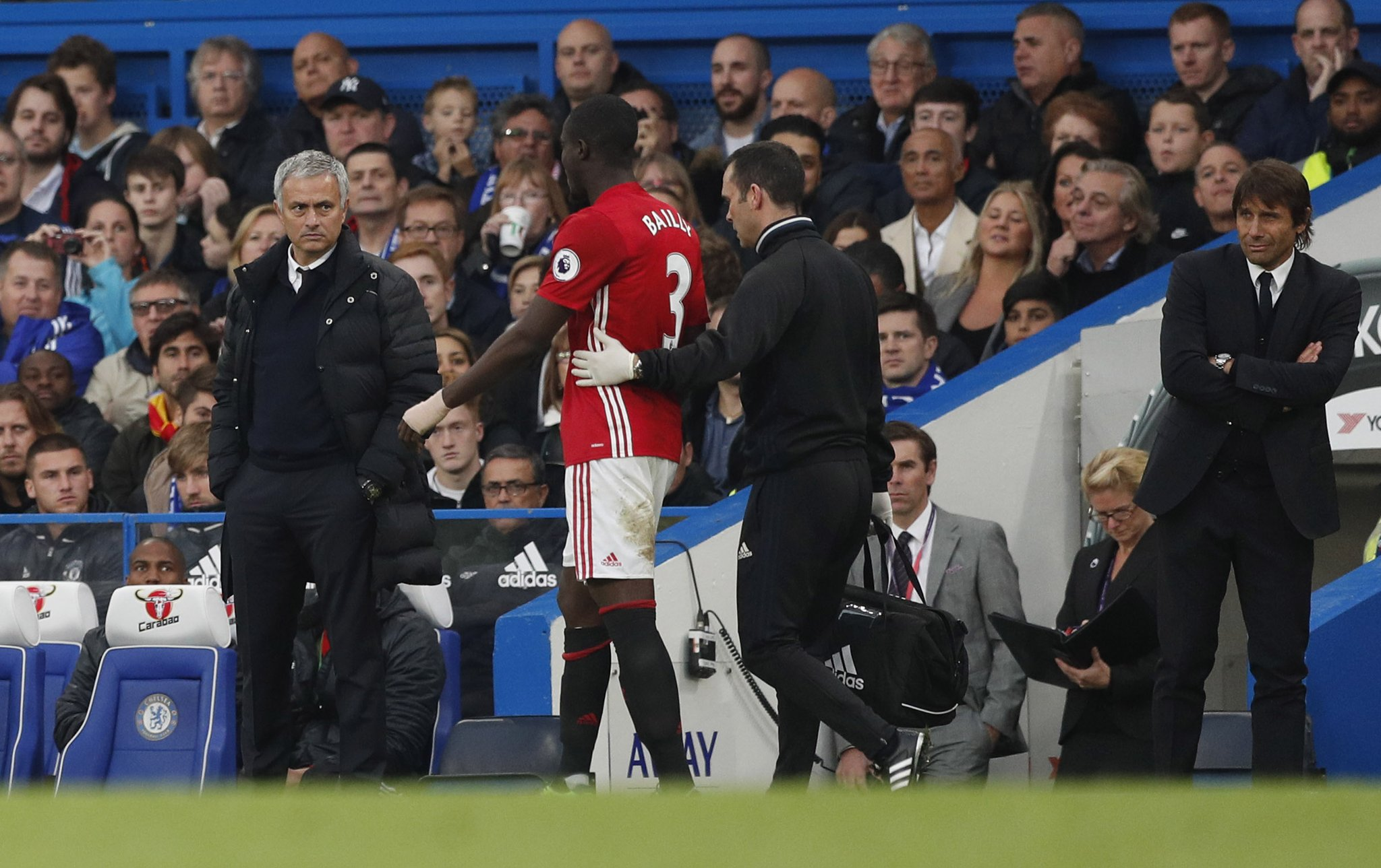 """Mourinho Blames United Defence For Chelsea Thrashing, Reveals """"Bad"""" Bailly Injury"""