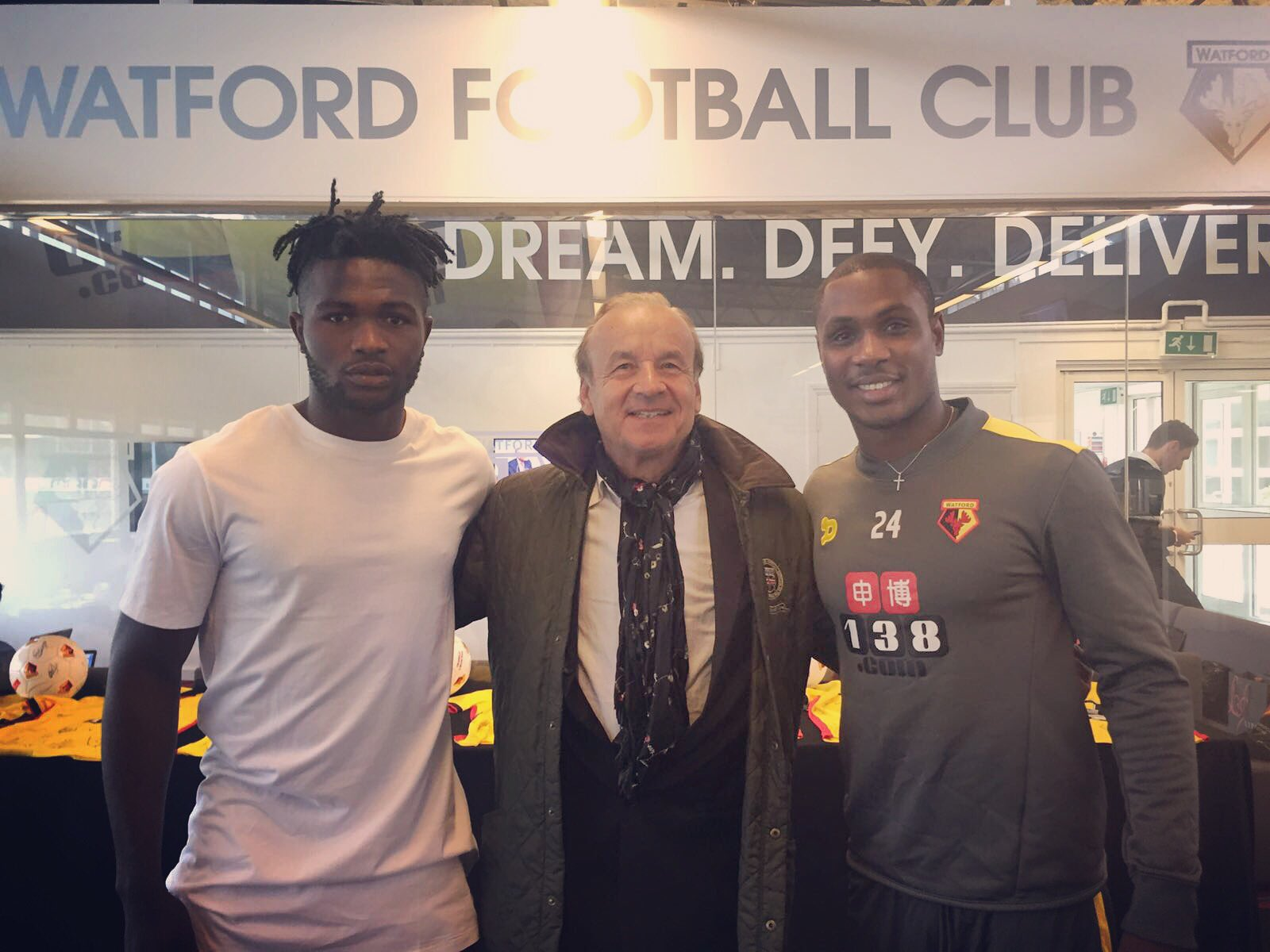 Ighalo Sure Goals Will Return, Meets Rohr Along With Success