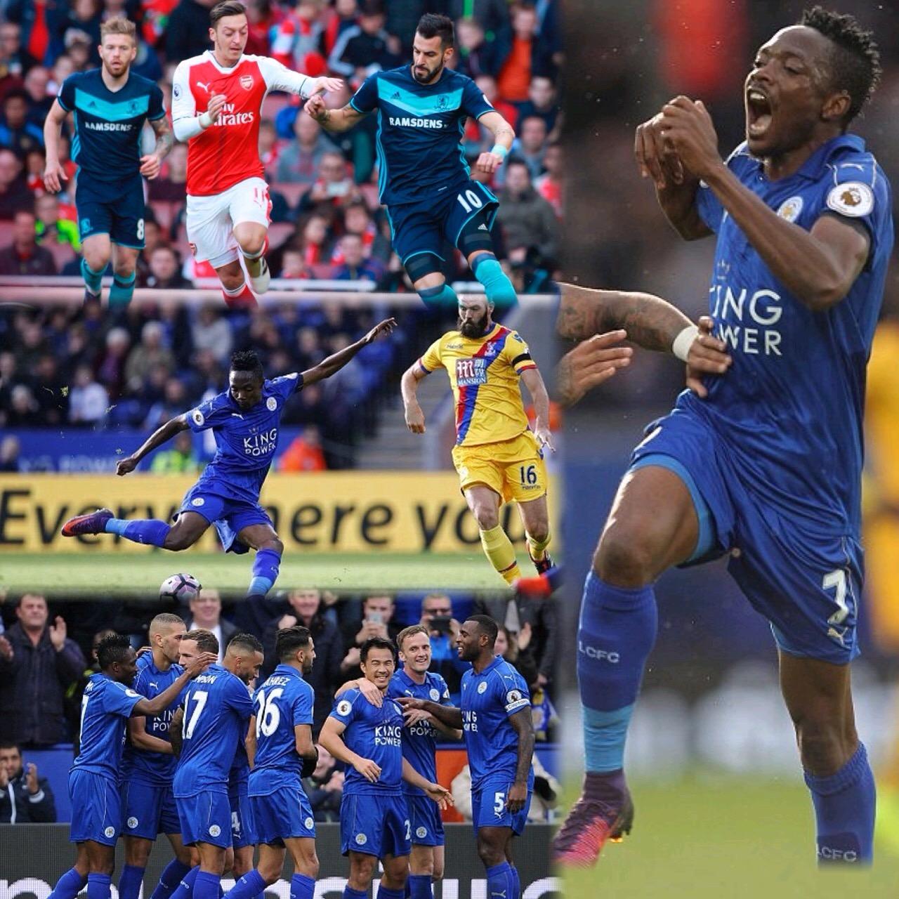 Musa Scores First Leicester Goal, Iwobi Returns As Boro Stop Arsenal