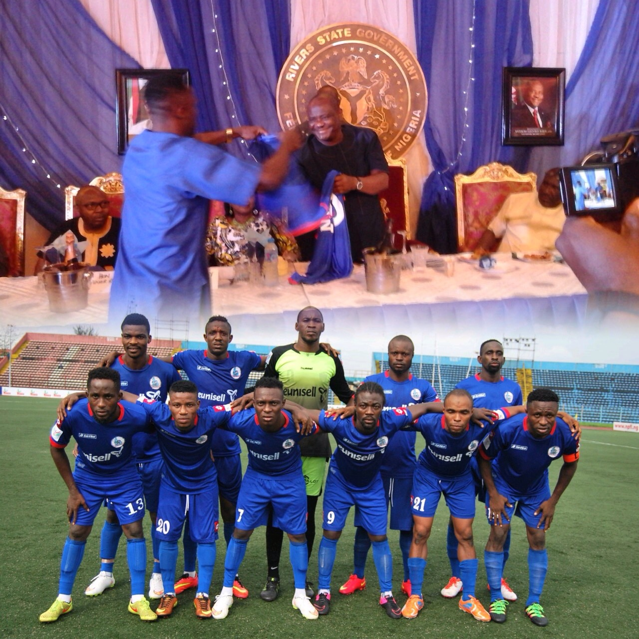 Wike Rewards Rivers United Players With N500,000 Each