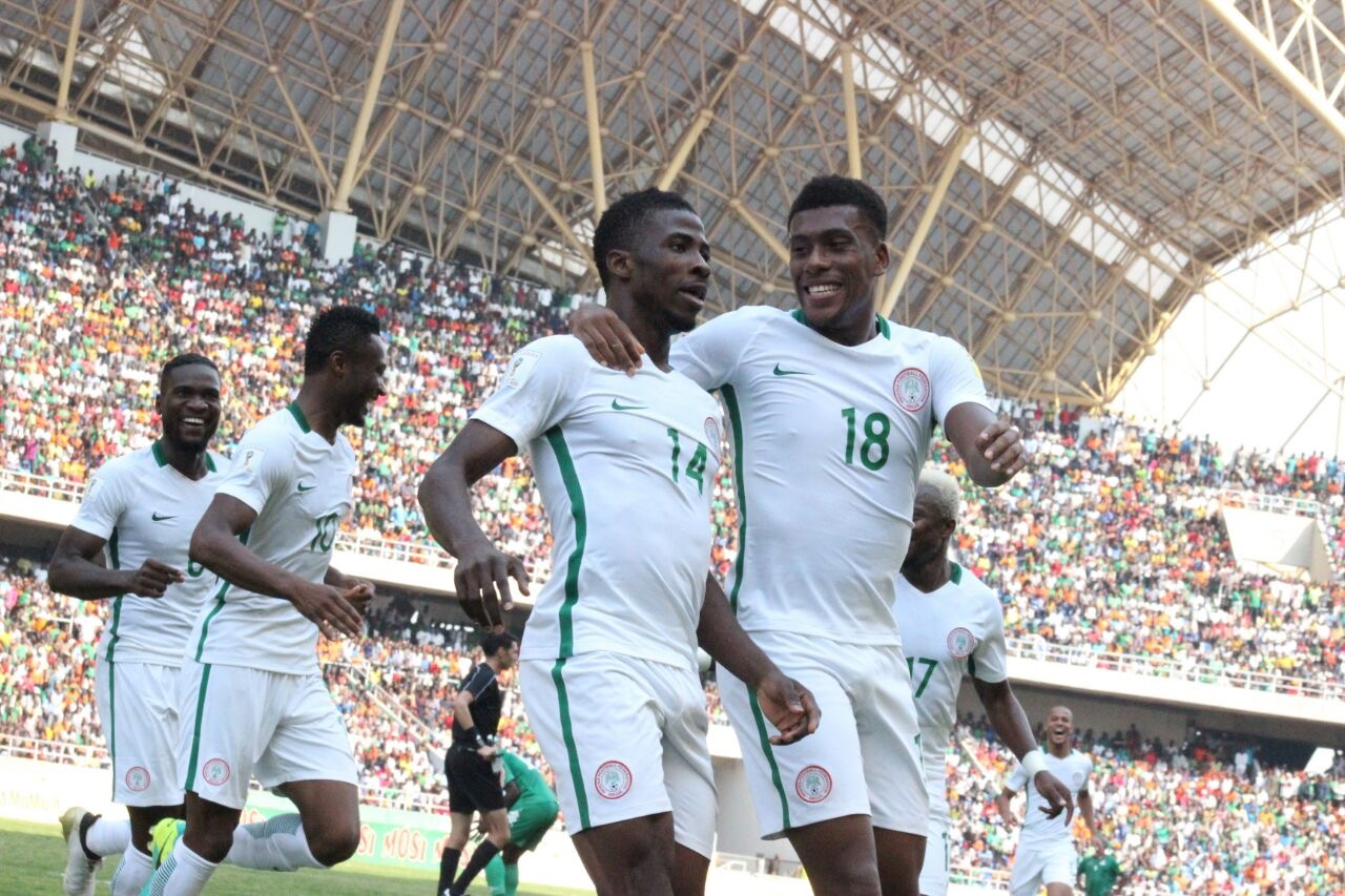 Iwobi, Iheanacho Fire Super Eagles Past Spirited Zambia