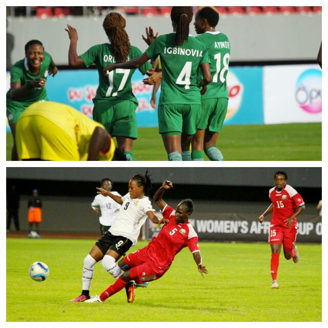 NIGERIA 3-1 GHANA: Falcons On Top In AWCON Clashes With Queens