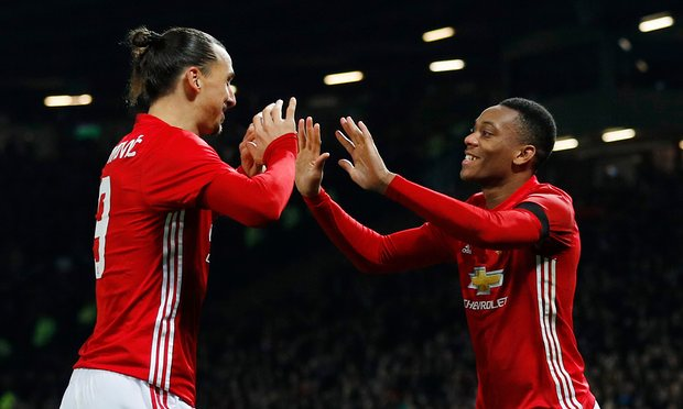 Zlatan, Martial Fire Man United Into EFL Cup Semis