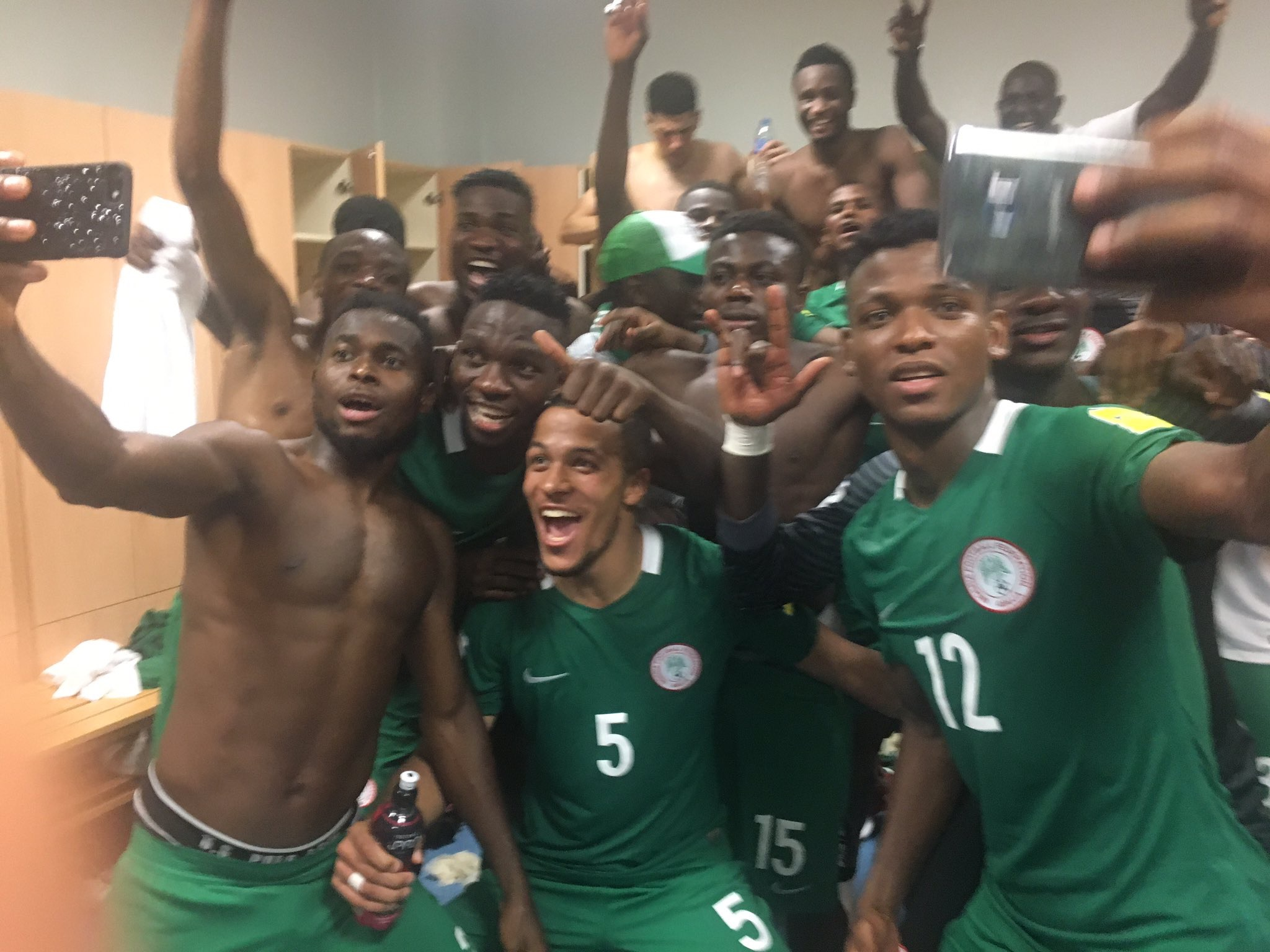 Kanu, Ogu, Ideye, Echiejile Savour Eagles Win Over Algeria