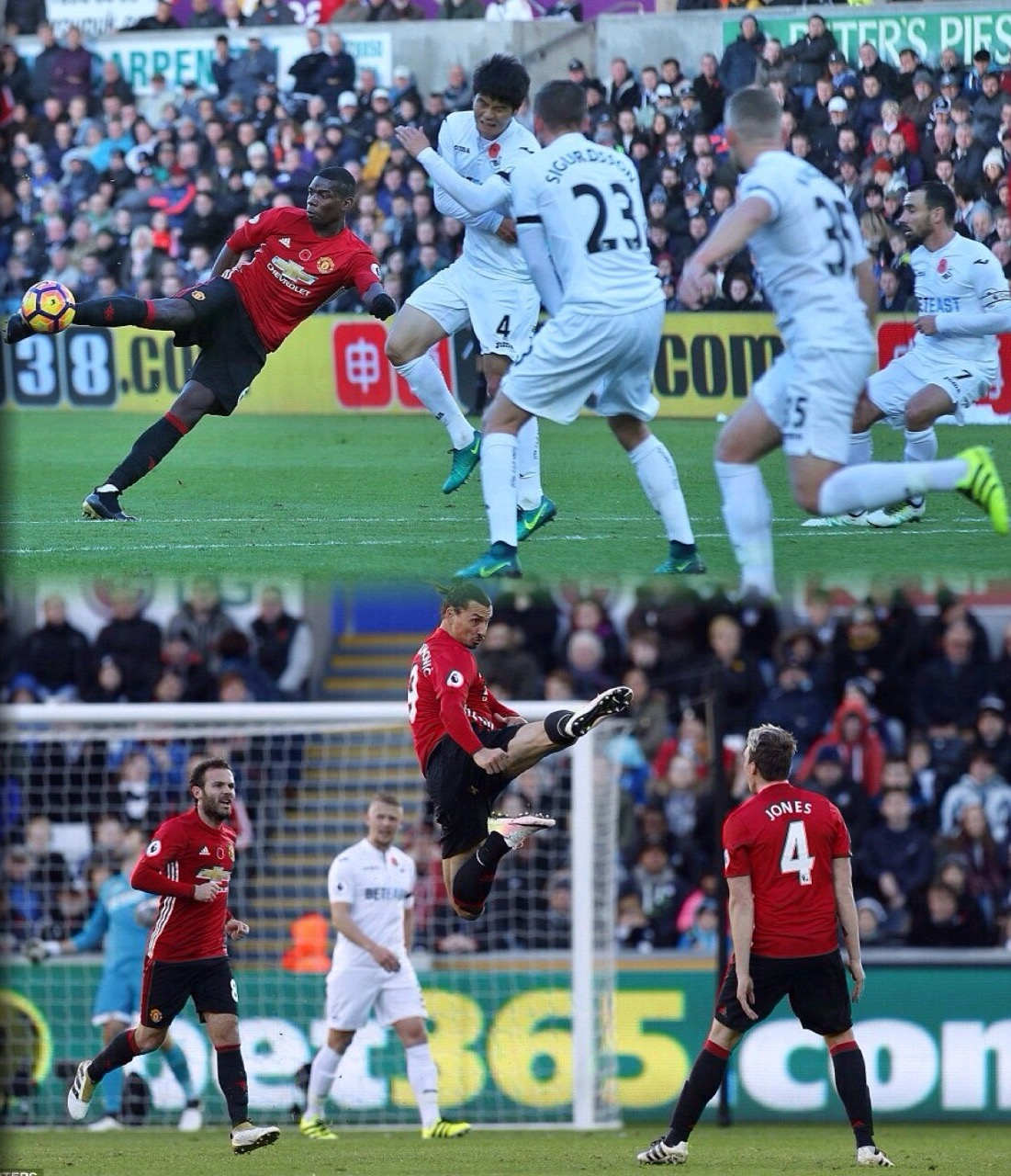Pogba, Zlata Shoot Down Swansea As United End Winning Drought