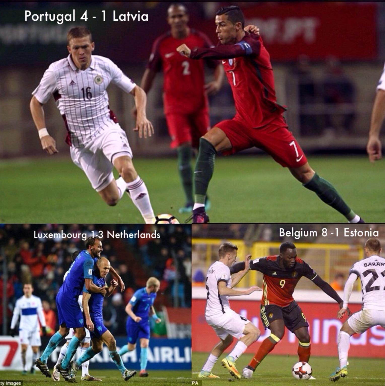 Euro WCQ: Depay, Robben, Ronaldo, Lukaku, Score As Netherlands, Portugal, Belgium Win