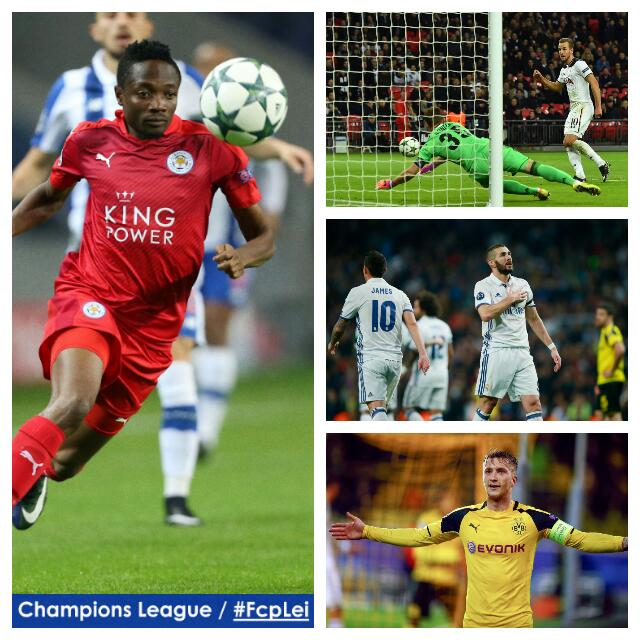 UCL: Musa Starts As Porto Thrash Leicester; Dortmund Stun Real