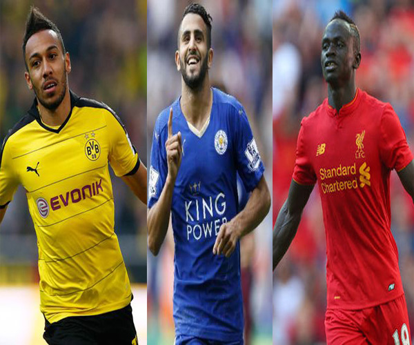 Aubameyang, Mahrez, Mane on African player shortlist
