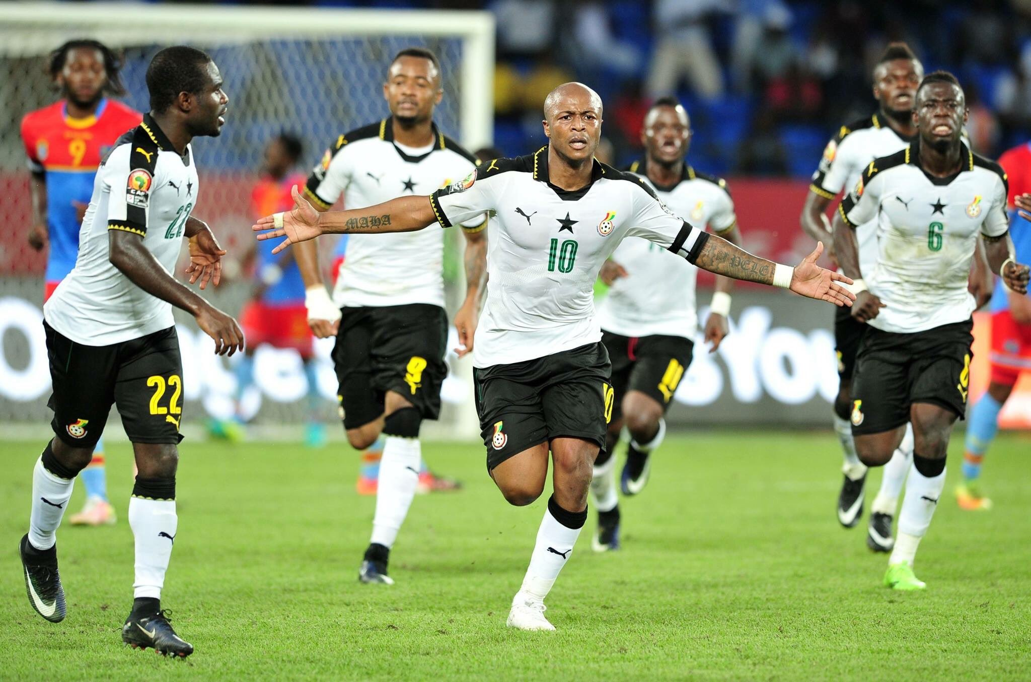 AFCON 2017: Ayew Brothers Score As Ghana Edge DR Congo, Reach Semis