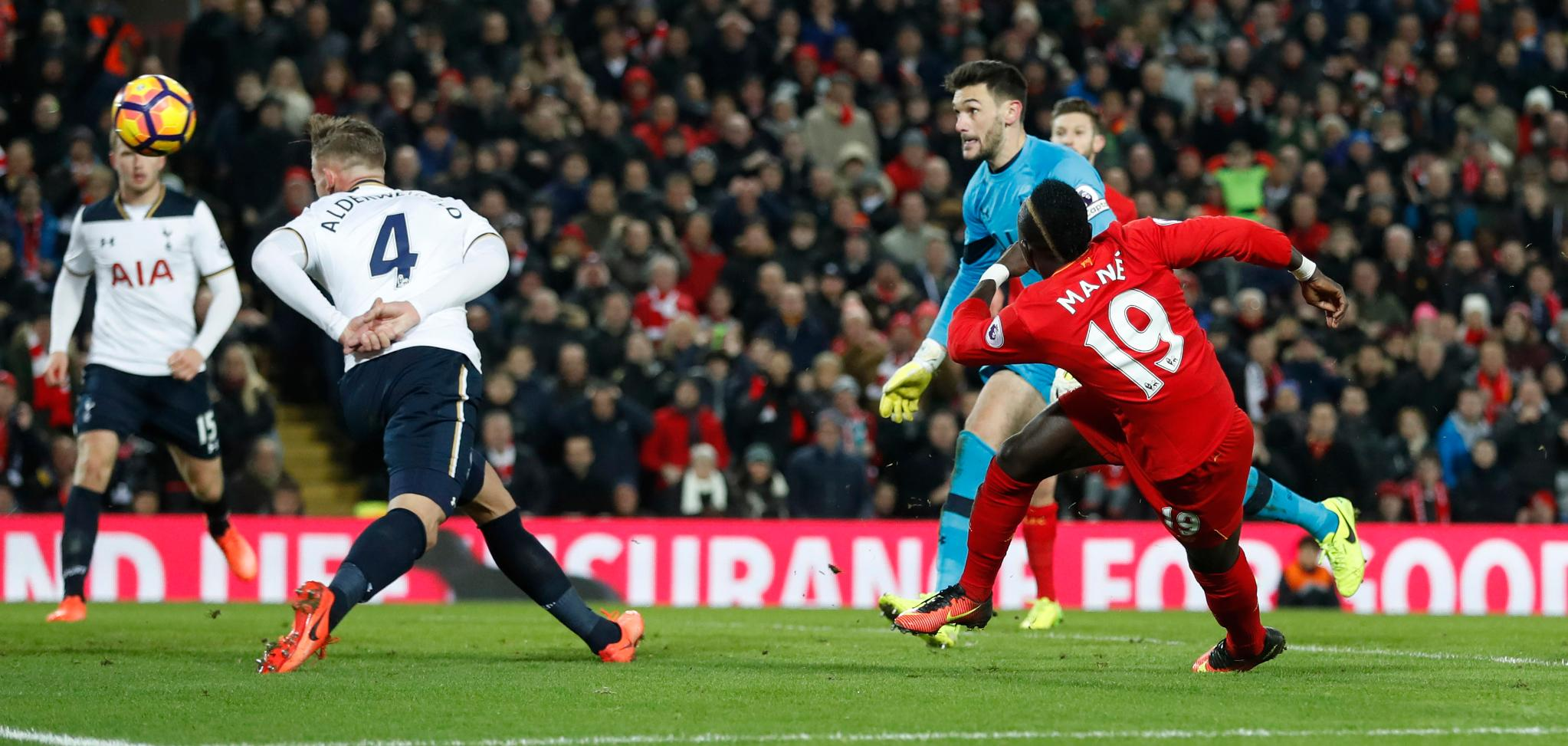 Mane Hits Brace As Liverpool Outsmart Tottenham