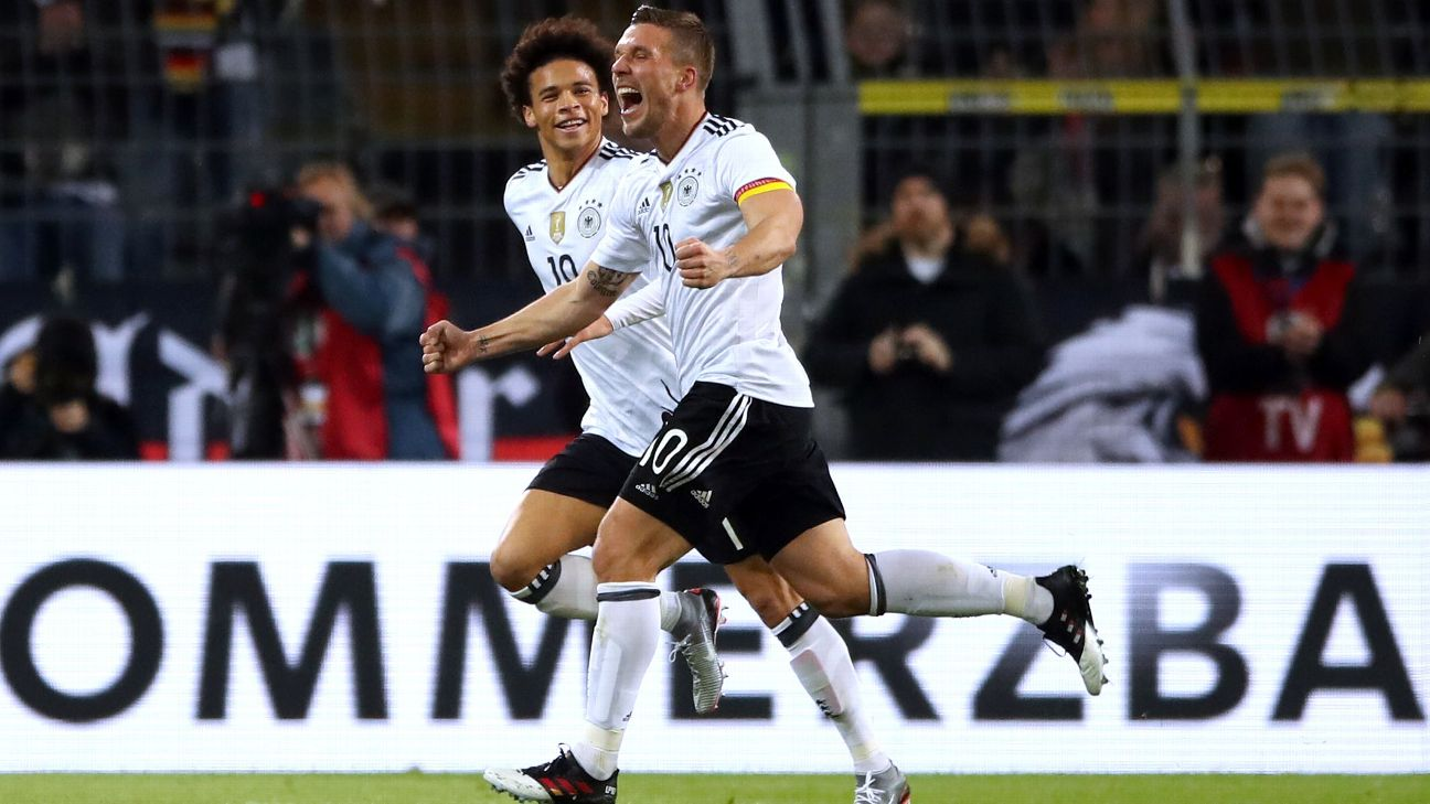 England upbeat despite Germany defeat and Podolski wonder