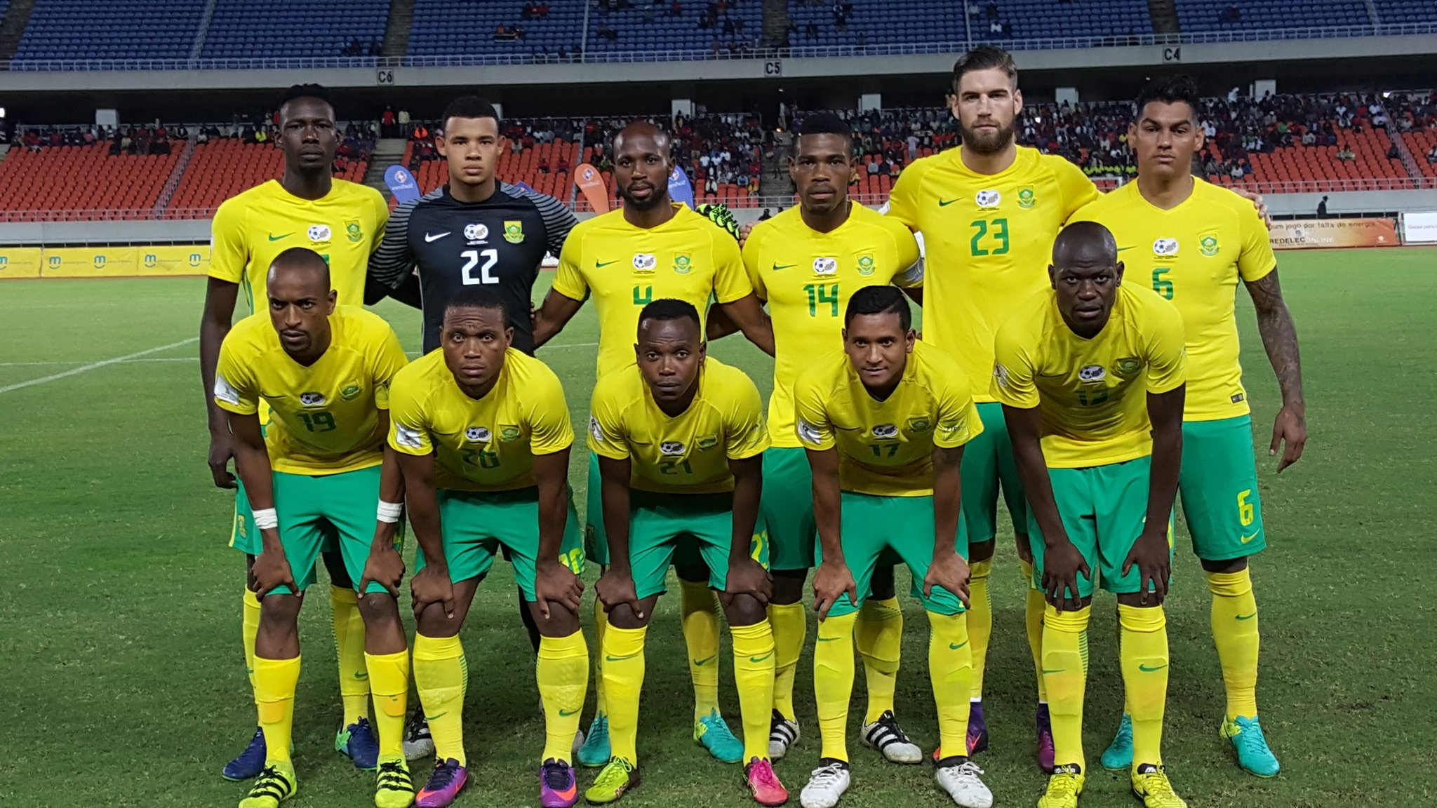 Bafana Bafana To Face Guinea-Bissau, Angola In Friendlies