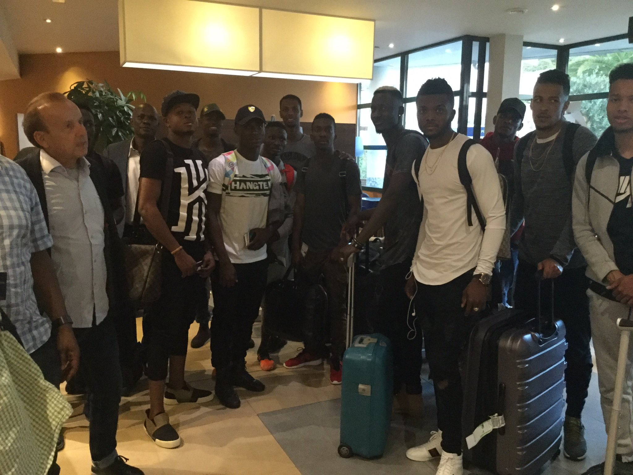 Image result for Odey, Alampasu, ten others arrive in Corsica ahead Friday's friendly