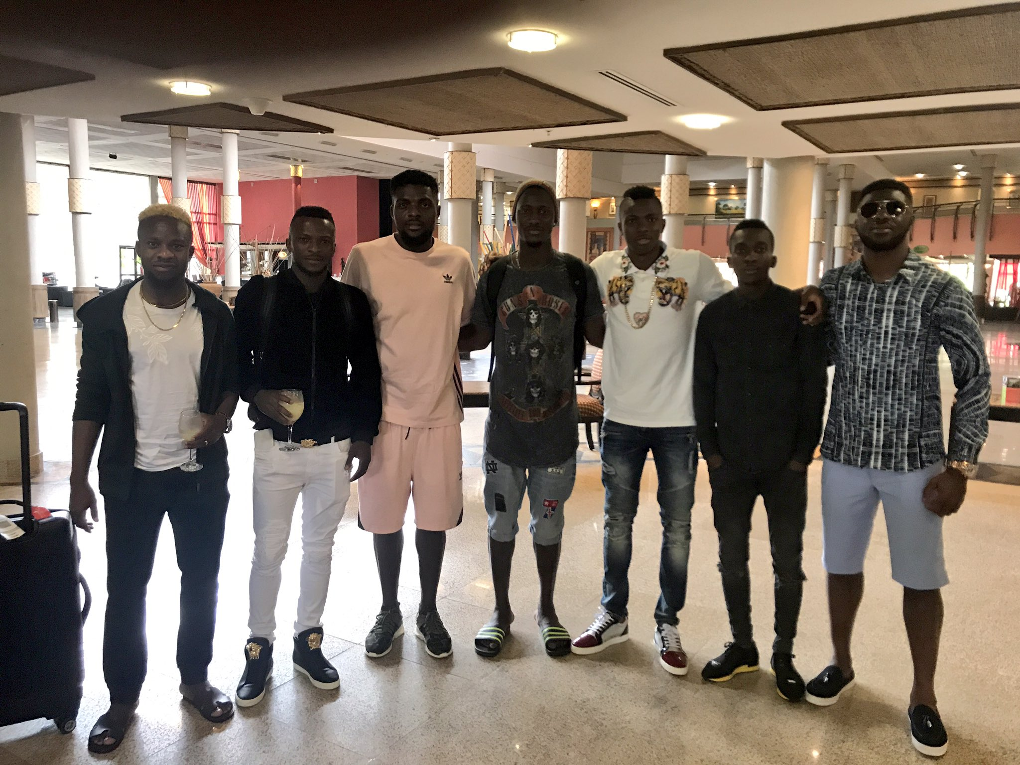 Seven Eagles Hit Uyo Ahead Of Bafana Bafana Clash