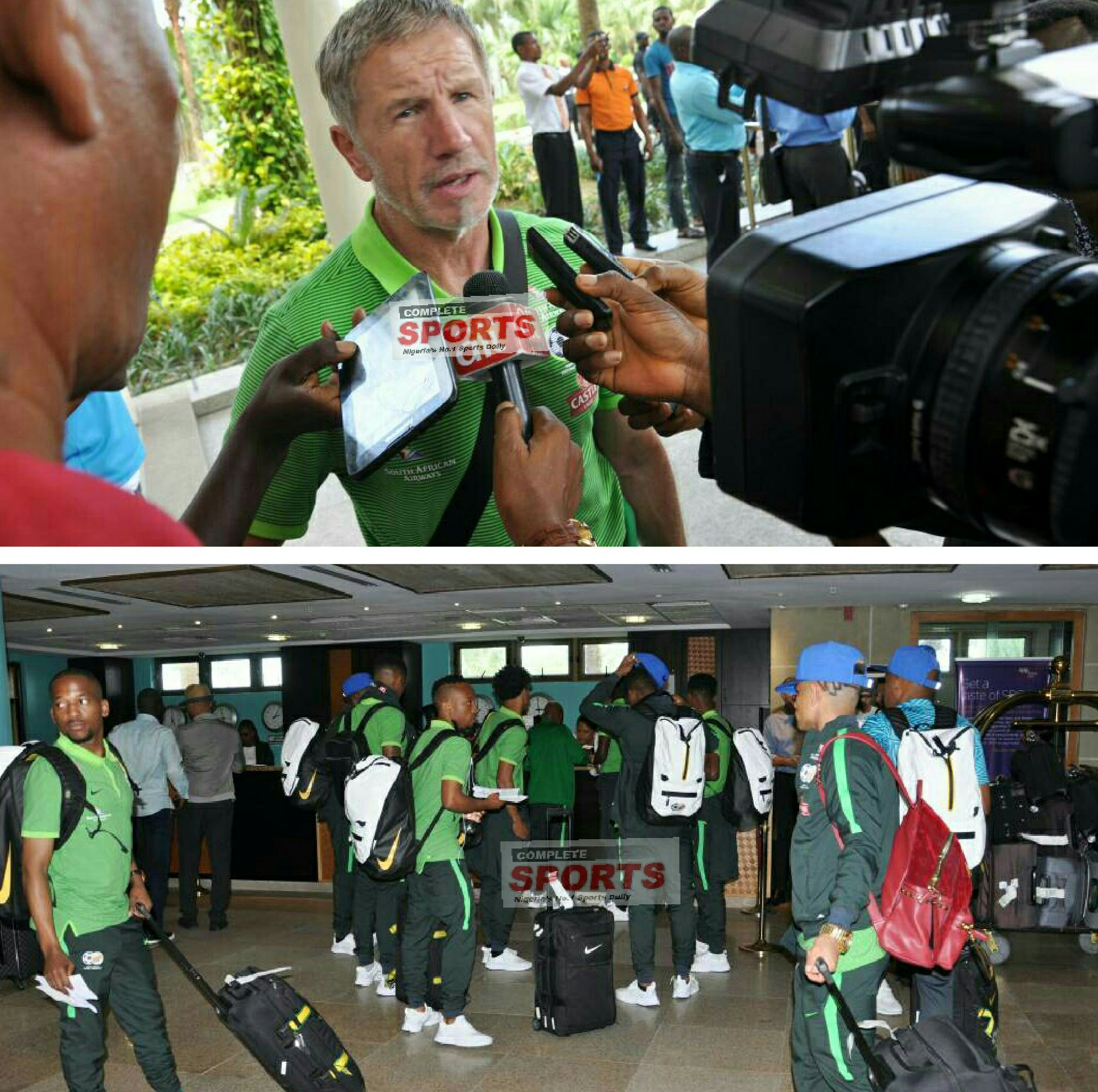 Baxter Boasts As Bafana Land In Uyo For Eagles Clash