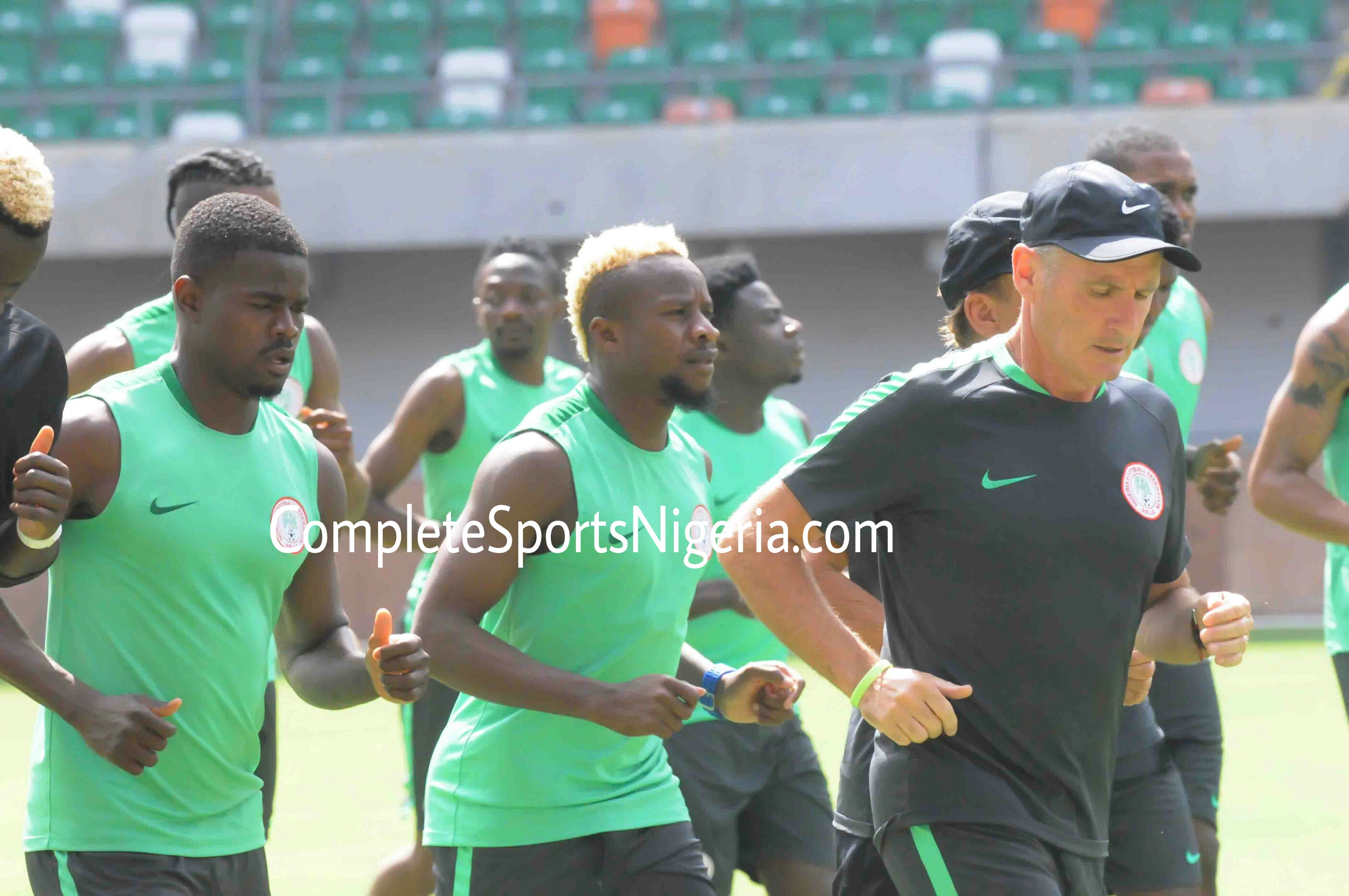 Mikel, Balogun, and Aremu land in Uyo as Eagles troop in