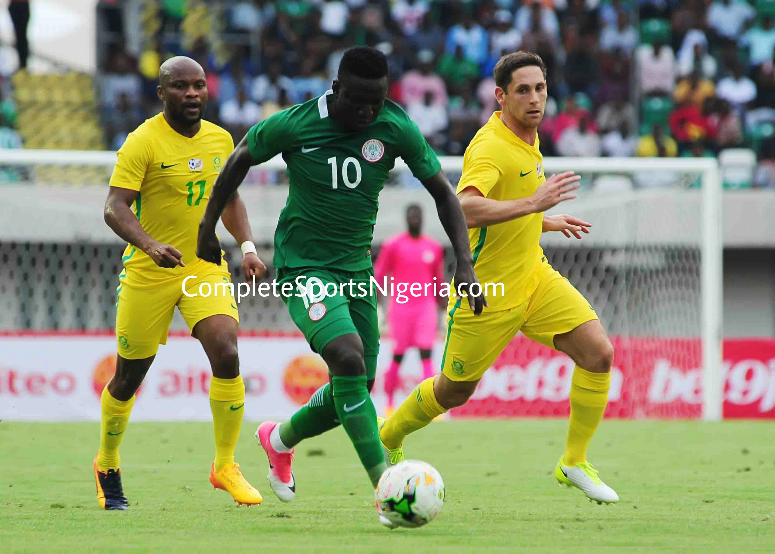 South Africa Stun Super Eagles in Uyo, Break Nigeria Jinx