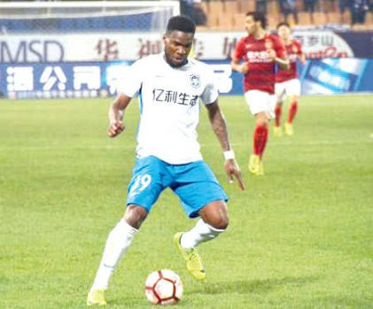 China: Ideye Hits Brace, Martins Scores As Tianjin Edge Shanghai