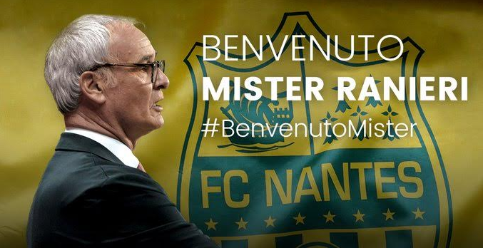 French Club Nantes Appoint Ranieri As New Manager