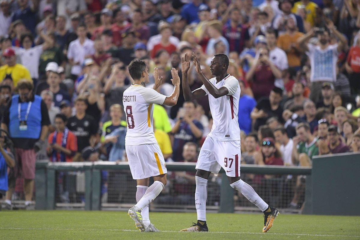 ICC: Ex-Olympic Eagle Sadiq Scores As Roma Lose To PSG‎ On Penalties