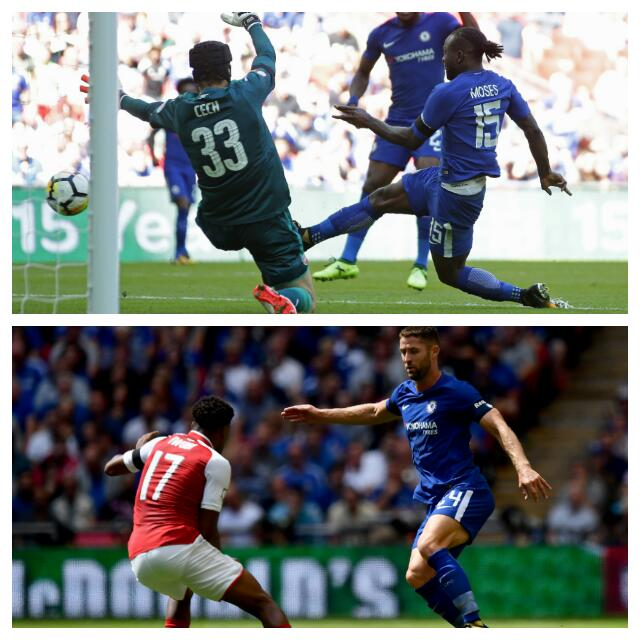 Moses Ends Goal Drought, Iwobi Shines As Arsenal Win Community Shield
