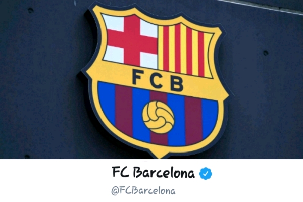 Barcelona football club's Twitter account hacked