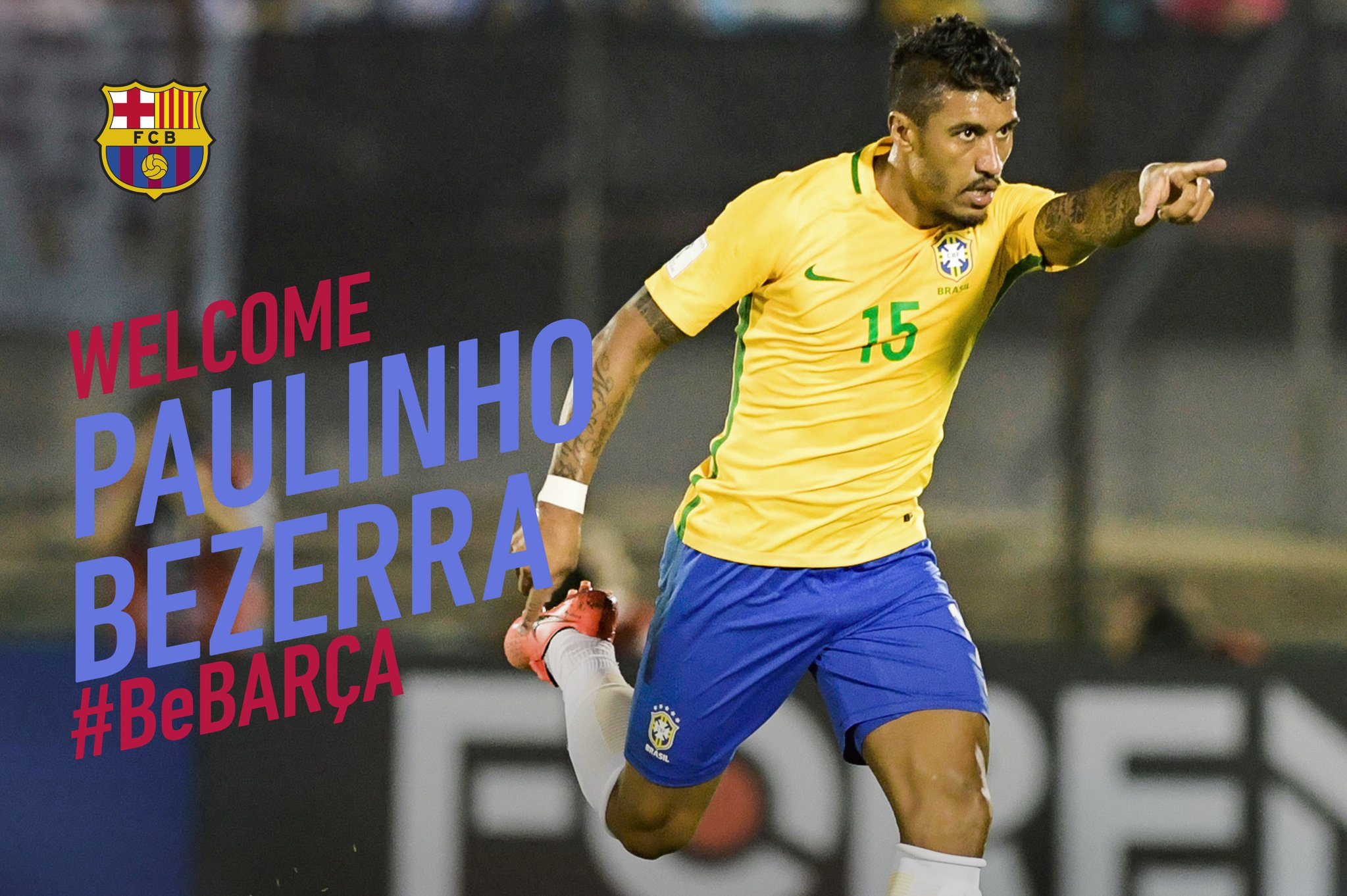 Barca Confirm €40m Paulinho Signing, Set €120m Buyout Clause