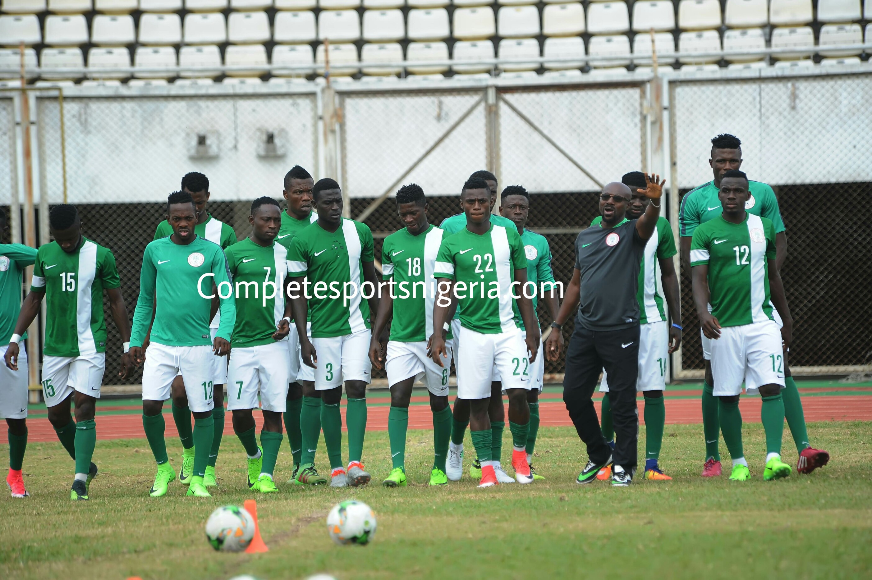 Home Eagles Train At Stade De'Lamite Ahead Of Benin Republic Clash