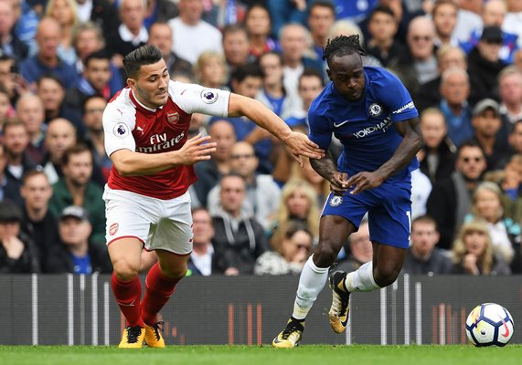 Moses, Iwobi Shine, Luiz Sent Off As Chelsea, Arsenal Draw