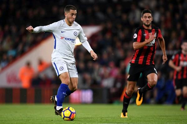 Hazard's Strike Seals Chelsea Win At Bournemouth