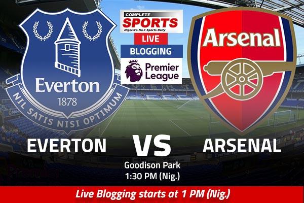 LIVE BLOGGING: Everton vs Arsenal