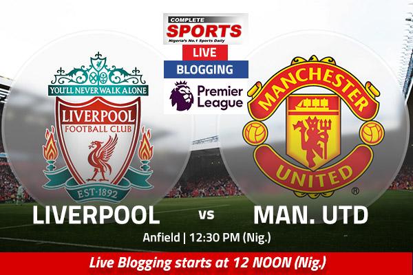 LIVE BLOGGING: Liverpool vs Manchester United