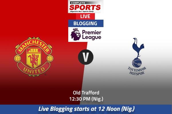LIVE BLOGGING: Manchester United vs Tottenham