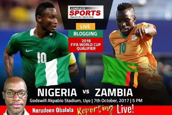 LIVE BLOGGING: Nigeria vs Zambia