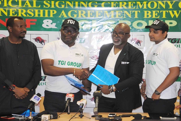 Pinnick Promises More Deals As NFF Sign Three-Year Agreement With TGI Group