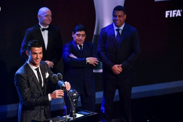 Ronaldo Retains FIFA Best Player Award As Buffon, Zidane, Giroud Win