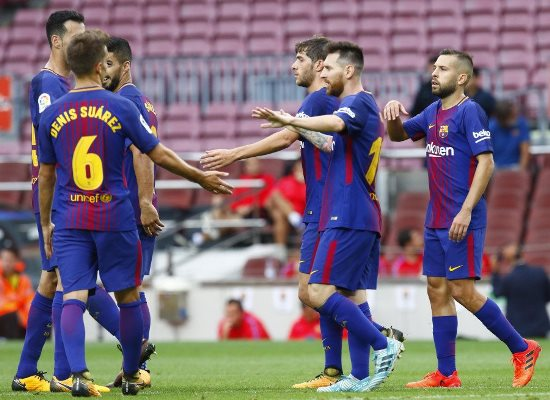 Messi Bags Brace As Barca Stroll Past Las Palmas At Empty Camp Nou