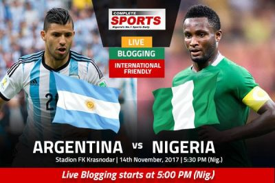 LIVE BLOGGING: Argentina vs Nigeria