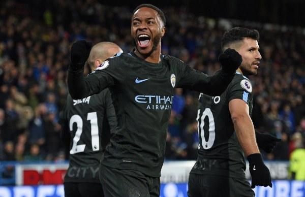 Dominant Man City Avoid Huddersfield Shock, Equal Club Record