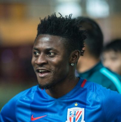 Chinese Cup: Martins Fires Shenhua To First Leg Win Over Oscar's SIPG