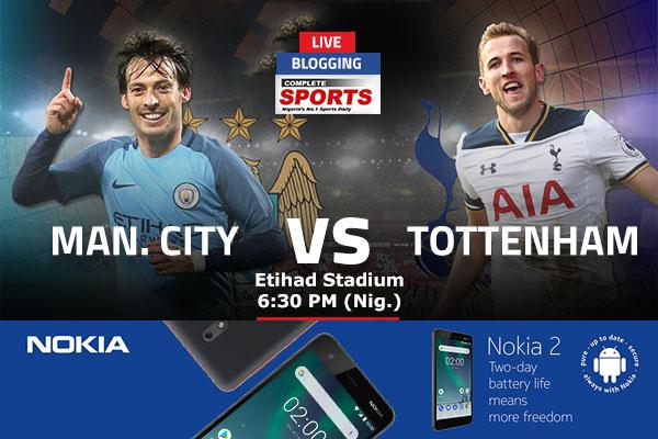 LIVE BLOGGING: Manchester City vs Tottenham