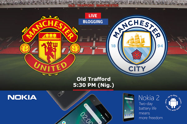 LIVE BLOGGING: Manchester United vs Manchester City