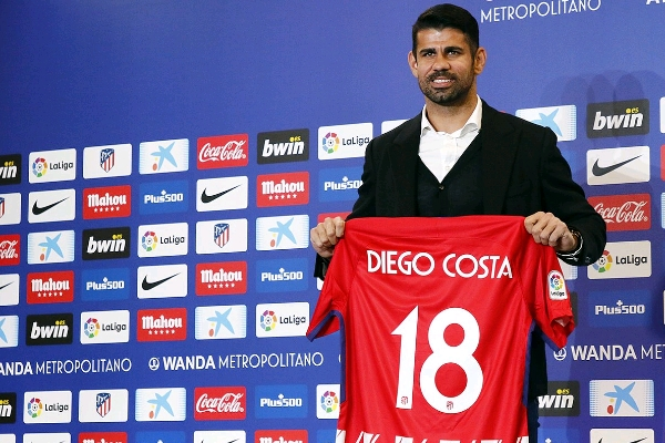 "Atletico Officially Unveil ""Thankful"" Costa, Give Him No.18"