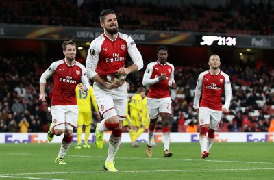 Europa: Arsenal Thrash BATE; Nwakaeme Out, Ogu In Action In Beer-Sheva Defeat